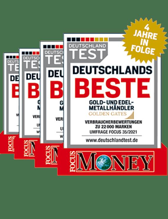 Focus Money 35/2021: Auszeichnung für Golden Gates