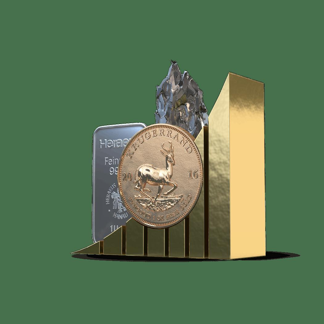 Geld anlegen in den Metallmix von Golden Gates.