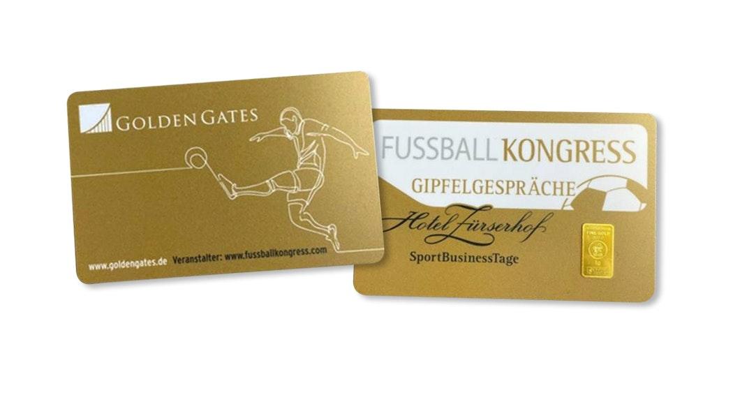 Personalisierte Goldverpackung