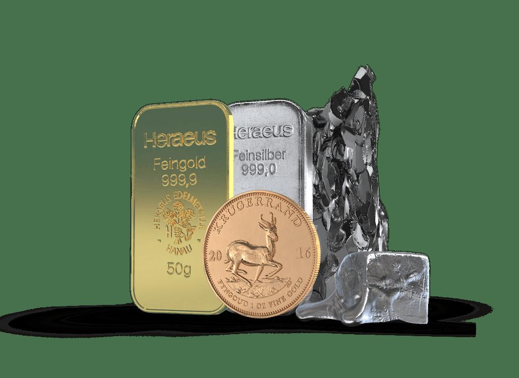Geld anlegen in den Metallmix von Golden Gates
